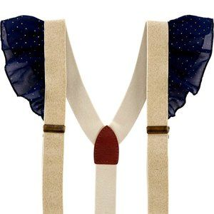 OshKosh B'Gosh Little Academia suspenders Ruffles
